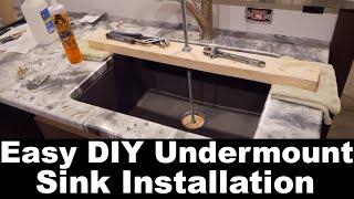 Diy Easy Undermount Sink Install Youtube