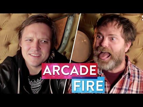 Rainn Wilson Almost Attacks Win Butler of Arcade Fire   Metaphysical Milkshake