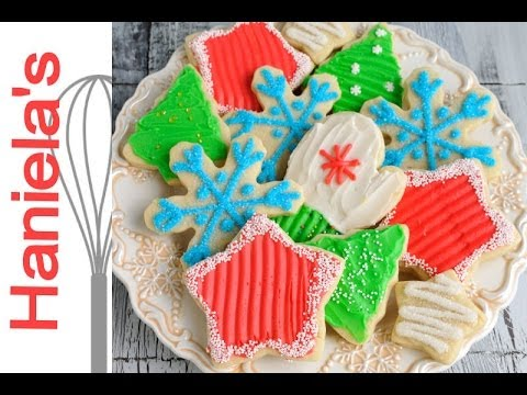 Christmas Cookies Decorated with Butter Frosting, Recipe and ...