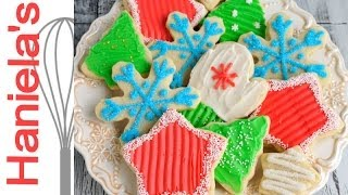 Christmas Cookies Decorated With Butter Frosting, Recipe And  Christmas Cookies Tutorial