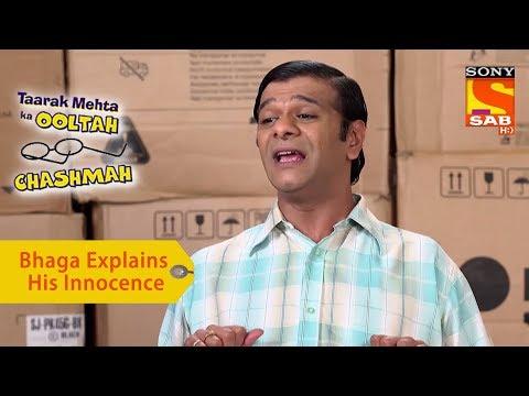 Your Favorite Character | Bhaga Explains His Innocence | Taarak Mehta Ka Ooltah Chashmah