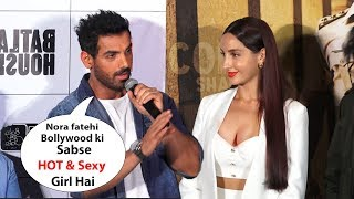 John abraham Makes Fun Of Nora fatehi, Batla house trailer  Launch |Nora fatehi
