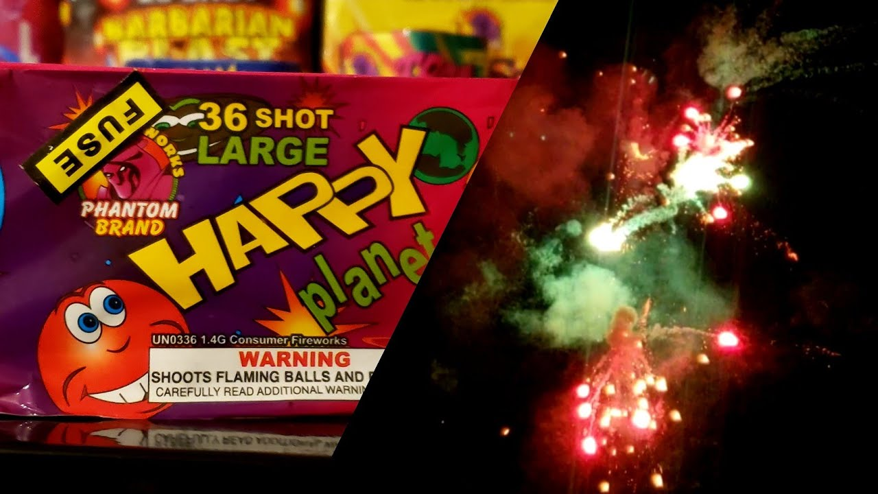 Phantom Fireworks 36 Shot Happy Planets