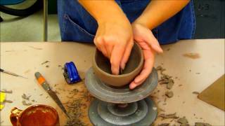 Ceramics II Cleaning Pinch Pot Cup Forms- (Day 2)
