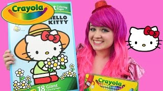 Hello Kitty GIANT Coloring Page Crayola Coloring Book | COLORING WITH KiMMi THE CLOWN