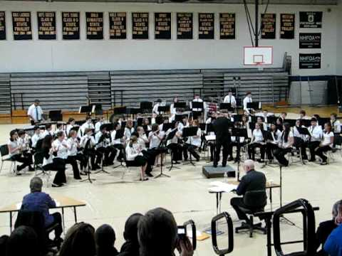Pennichuck Middle School 7th/8th Grade Band at Regional Band Comp March 27, 2010 - 1st piece