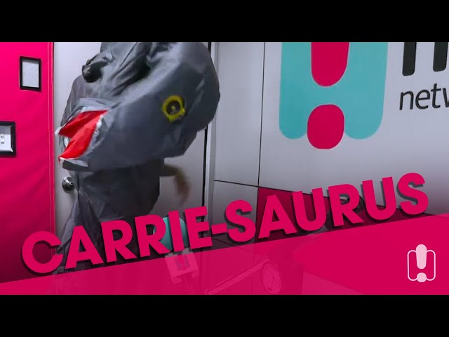 Tommy Little Buys Carrie Bickmore An Insane Dinosaur Costume | Carrie & Tommy