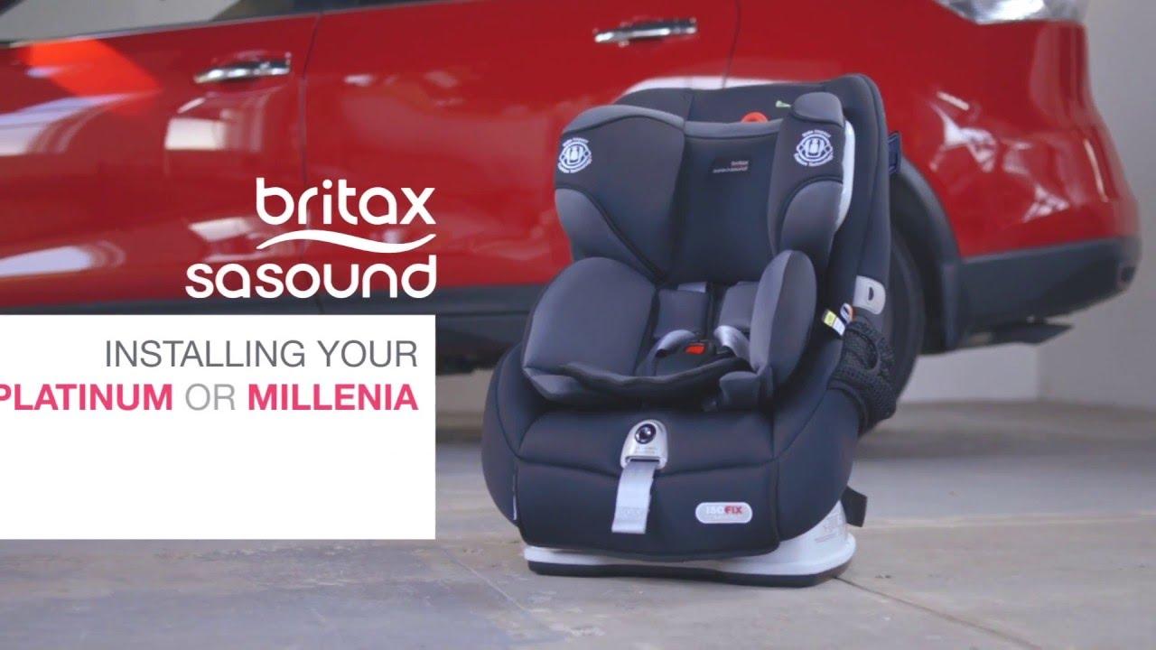 Britax Safe N Sound Platinum PRO Millenia ISOFIX Forward Facing Installation Video