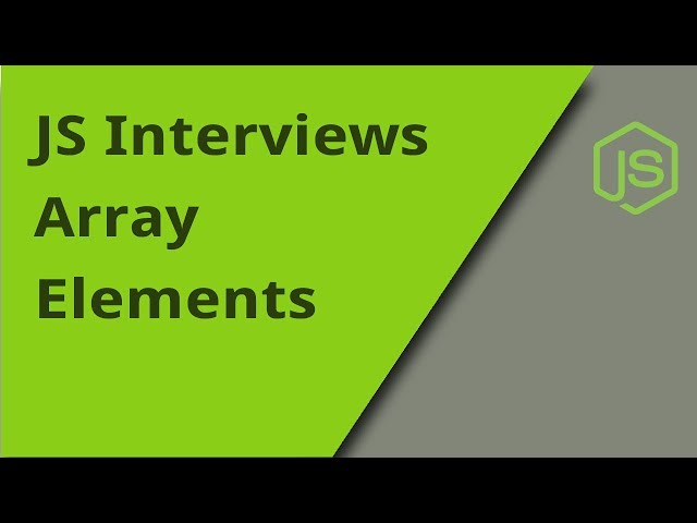 JS Interview - Array Indexes - Question 24