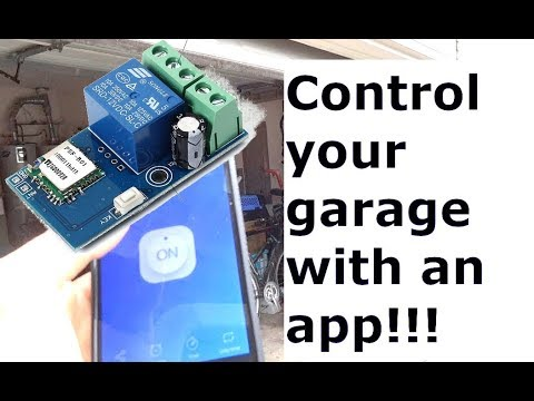How to Use a WIFI Inching Relay (Garage Door Project) (Icstation)