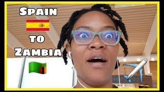 Flying from Spain to Zambia with Emirates Airlines - In'utu J. Mubanga - Small Youtuber