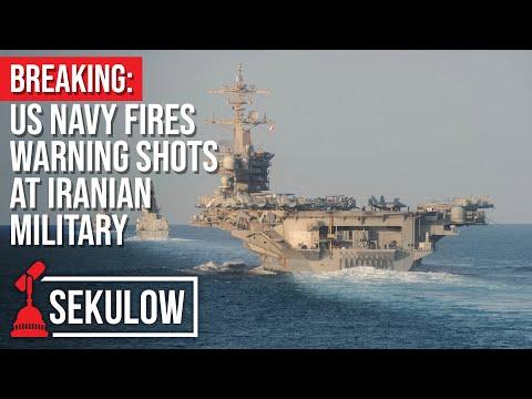 BREAKING: US Navy Fires Warning Shots at Iranian Military