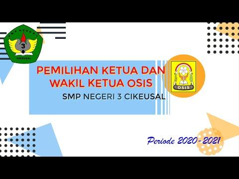Pemilihan Ketua Dan Wakil Ketua OSIS SMPN 3 Cikeusal