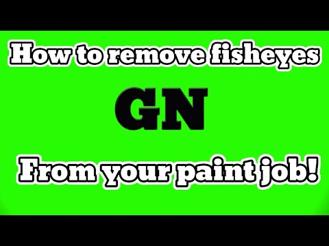 How To Remove Fisheyes From Your Paint Job! DIY AUTOBODY/fisheye Removal
