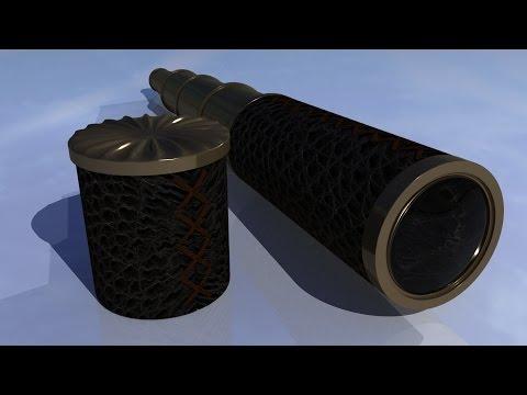 Maya tutorial : How to model a Vintage telescope