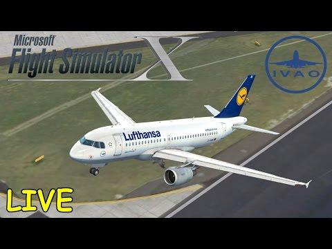 FSX | IVAO | Düsseldorf - Frankfurt | Stuttgart - Nizza | Liongamer1 [LIVESTREAM]
