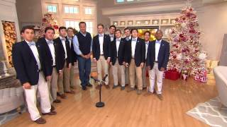 UNC Clef Hangers Sing With QVC's David Venable