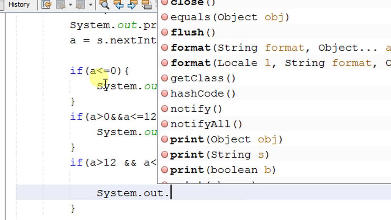 Java if else statement.