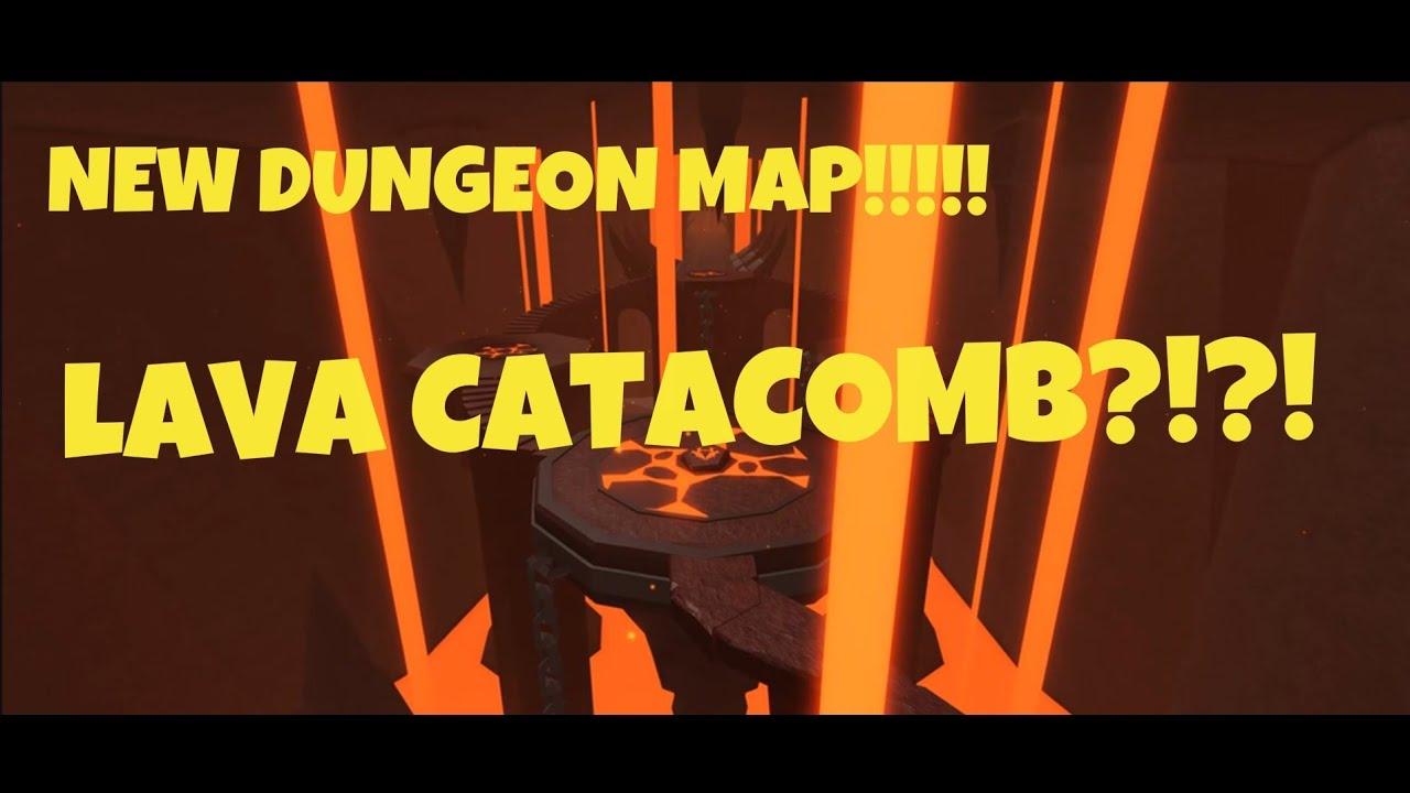 Dungeon Quest New Map Sneek Peek Lava Catacomb Roblox