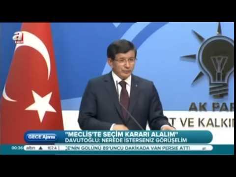 Başbakan Davutoğlu'ndan CHP ve MHP'ye Seçim Hükümeti Çağrısı
