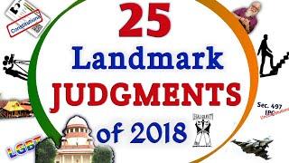 25 Landmark Judgments of 2018 | In English & Hindi