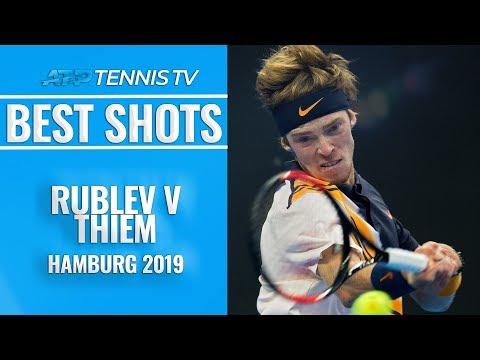 Brutal Andrey Rublev Shots v Thiem | Hamburg Open 2019