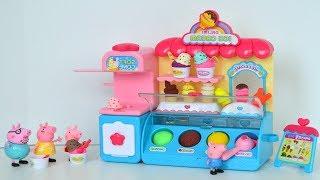 Plastilina Play Doh y la Familia de Peppa Pig comiendo Paletas y Helados de Playdoh!!! TotoyKids
