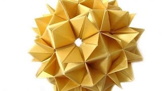 Как сделать Оригами Спайк мяч. \ How to make an Origami Spike Ball