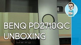 benQ PD2710QC Designer Monitor Unboxing!