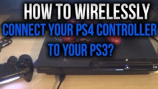 Tutorial: How To Wirelessly Connect Your PS4 Controller to Your PS3?