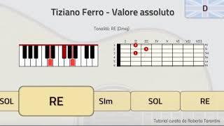 TUTORIAL! Tiziano Ferro - Valore assoluto (Piano e Chitarra - Accordi)