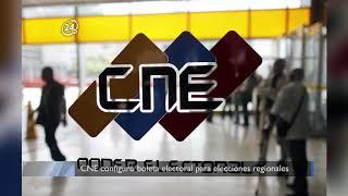 CNE configuró boleta electoral para elecciones regionales