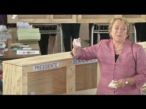 Voters go to the polls in Chile's presidential election with centre left politician Michelle...