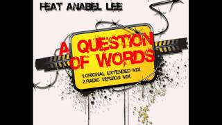 JUAN MARTINEZ feat. ANABEL LEE - A Question Of Words (Radio Version)