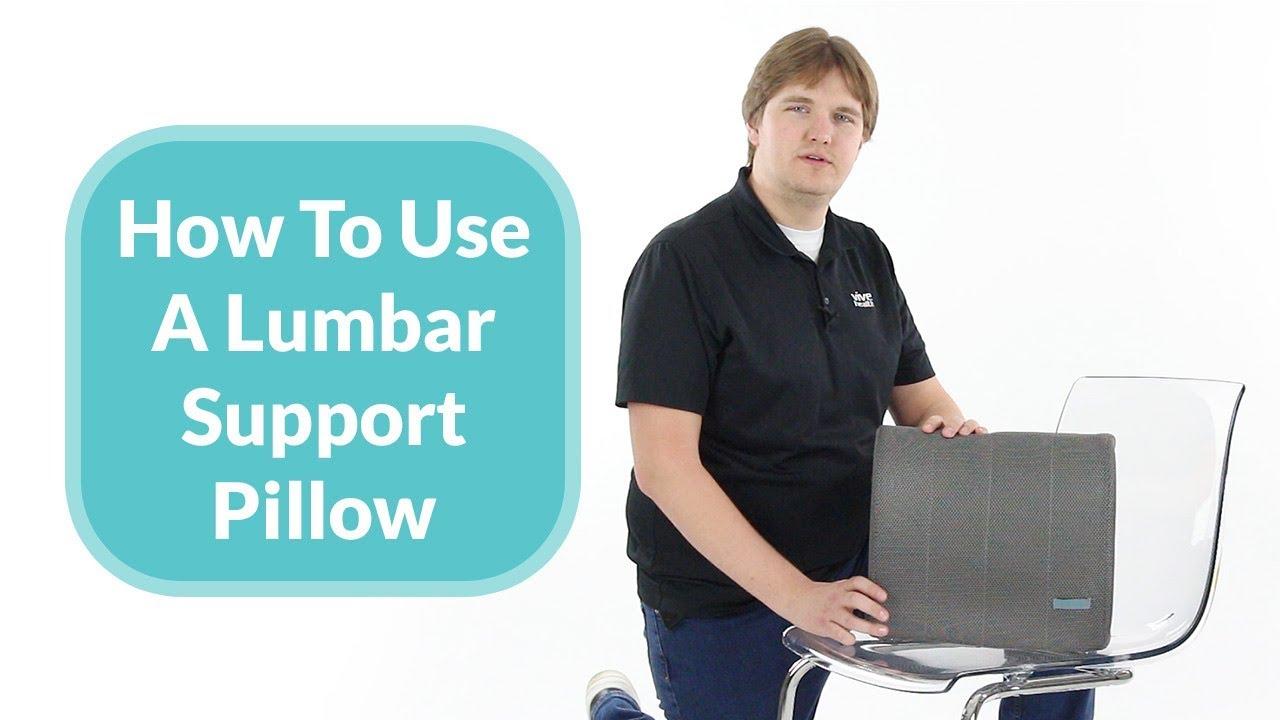 how to use a lumbar cushion on a chair