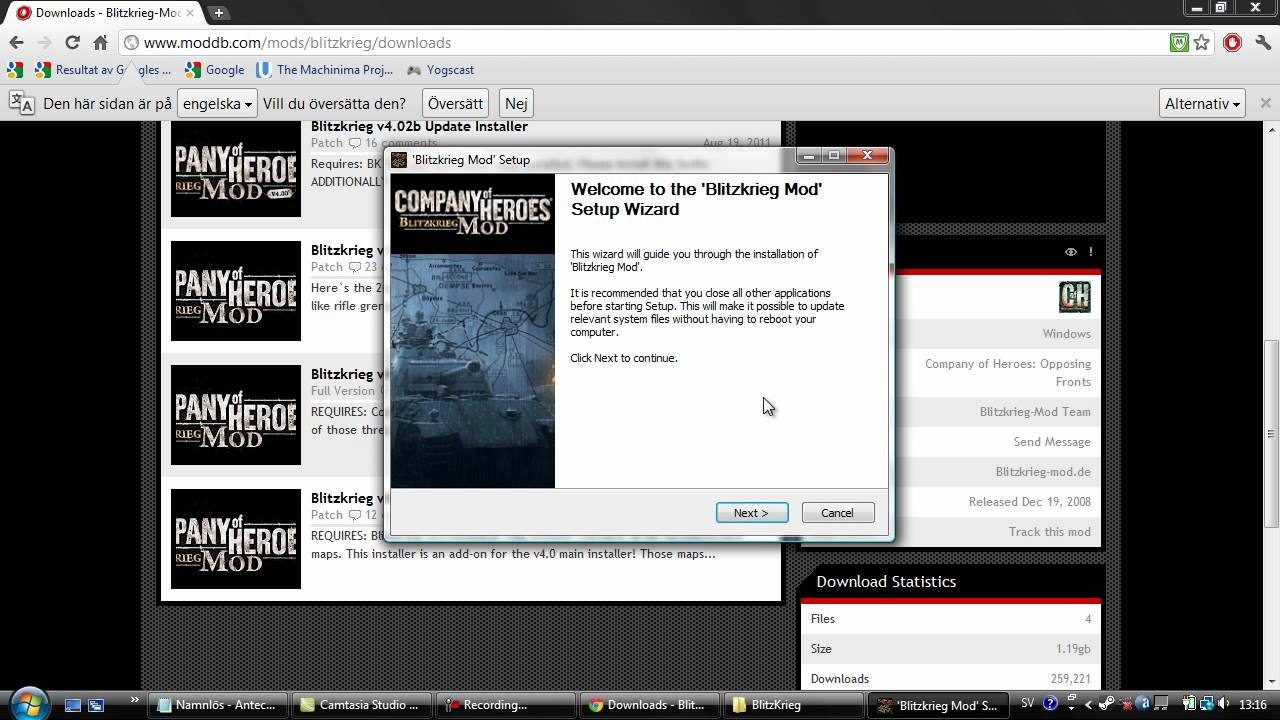 How To Install Blitzkrieg Mod For Company Of Heroes Youtube