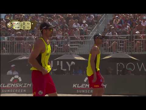 2018 FIVB Huntington Beach Open: Samoilovs/Smedins Vs Herrera/Gavira - Men's Bronze Medal Match