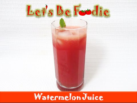 Homemade fresh Watermelon juice - Healthy summer drink