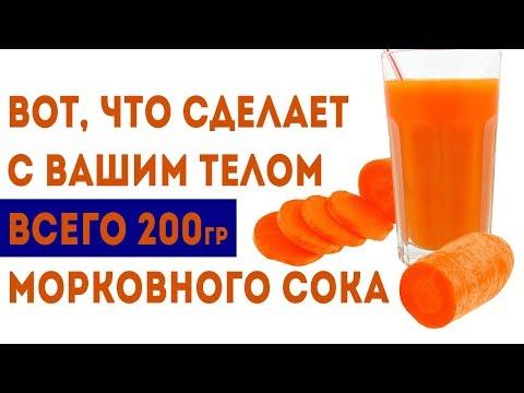 8 вещей, которые произойдут с Вашим организмом, если выпить морковный сок 🌳 Здоровье и долголетие