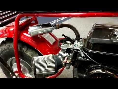 coleman ct200u custom exhaust header with muffler