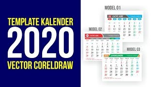 Gambar cover Template Kalender 2020 Model 01 Model 02 Model 03