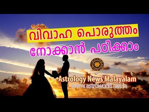 വിവാഹ പൊരുത്തം നോക്കാന് പഠിക്കാം  - Astrology News Malayalam
