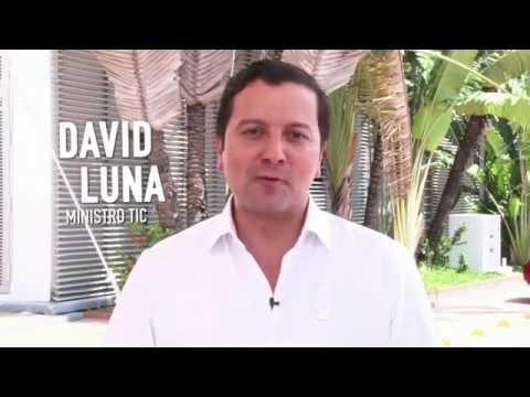 Ministro David Luna presenta el observatorio TI #ViveDigitalTV