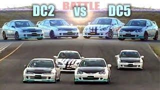 [ENG CC] Spoon - Spirits Integra Type R DC2 vs. DC5 - Battle in Ebisu HV54