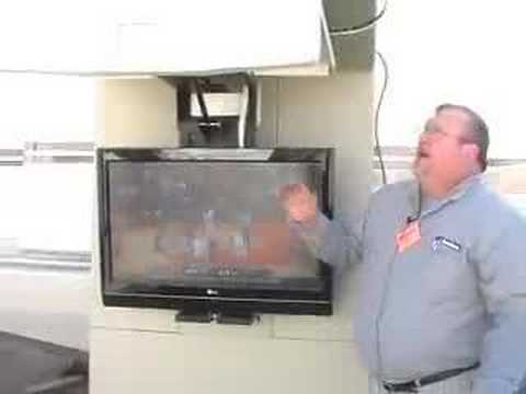 Flat Screen Tv Stores On The Rv Ceiling Youtube