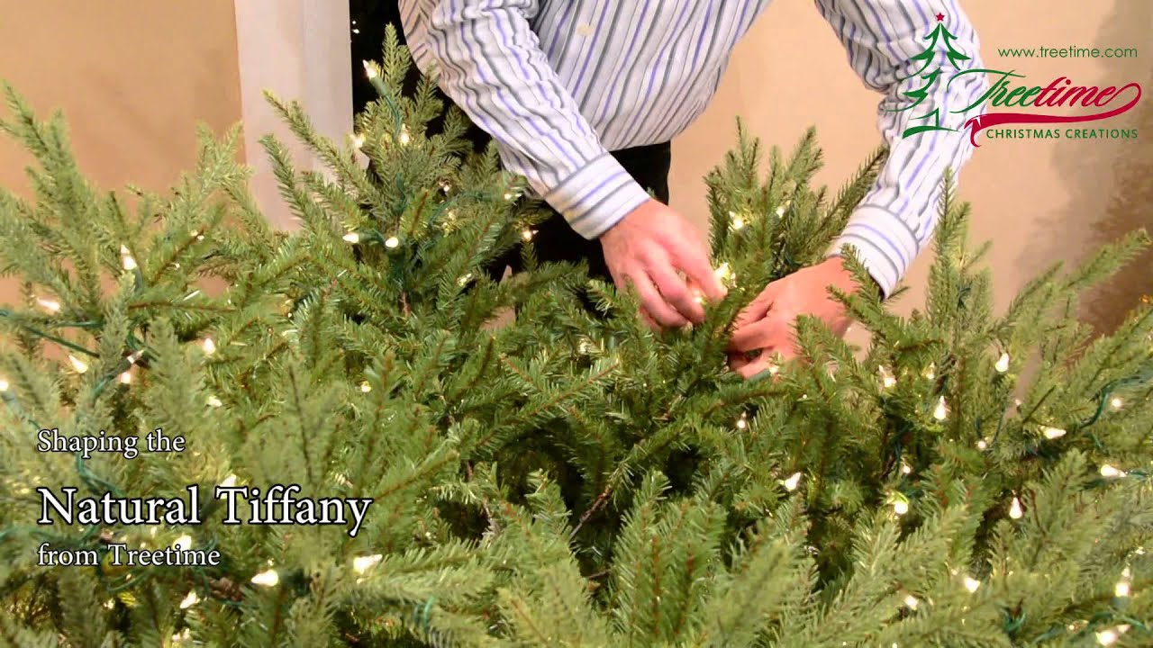 How to Shape Your Artificial Christmas Tree - The Natural Tiffany ...