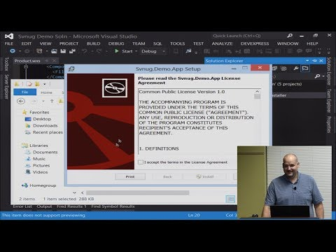 Working With The Wix Toolset Svnug Presentation 31 Youtube