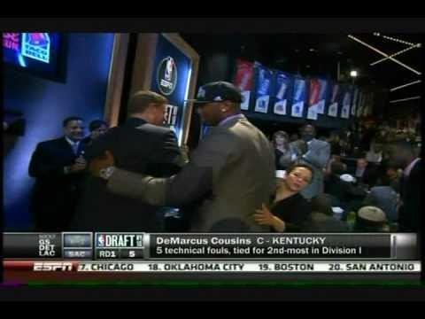 2010 NBA Draft - John Wall - 5 Kentucky Wildcats in First Rd.