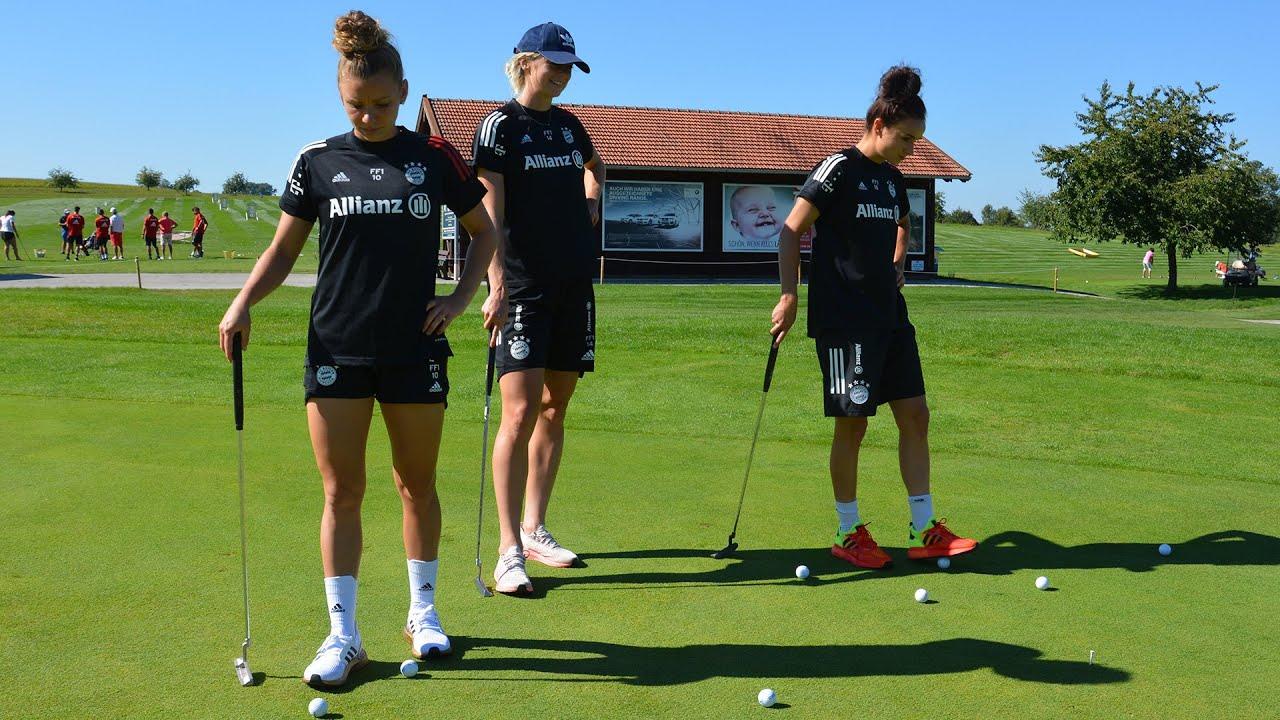 """""""Willkommene Abwechslung"""" - Ausflug der FC Bayern Frauen zum Golfplatz"""