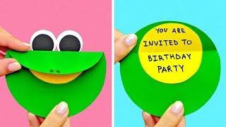 как сделать приглашения на день рождения своими руками из бумаги